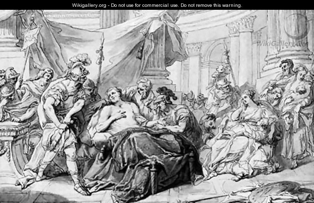 The death of Germanicus - Joseph II Cellony