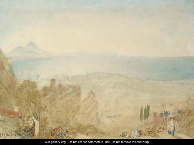 View of Naples with Vesuvius in the distance, morning - Joseph Mallord William Turner