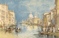 The Grand Canal, Venice, with gondolas and figures in the foreground - Joseph Mallord William Turner