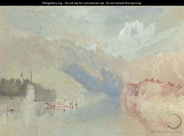 A view on the Rhine - Joseph Mallord William Turner