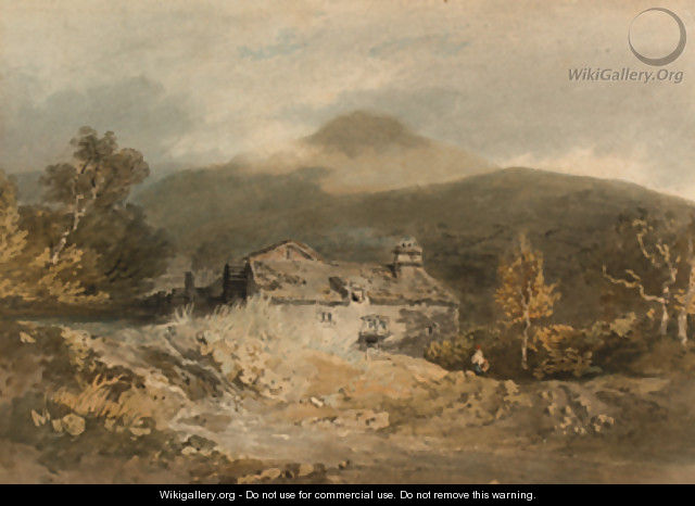A mill in North Wales - Joseph Mallord William Turner