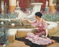 A Pompeian Garden - John William Godward