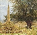 An old cross in a Western Churchyard - John William North