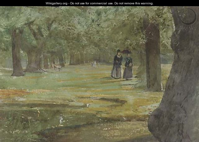 An afternoon stroll through the park - John William Inchbold