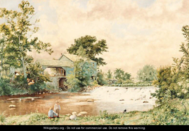 At the Old Mill Pond - John William Hill