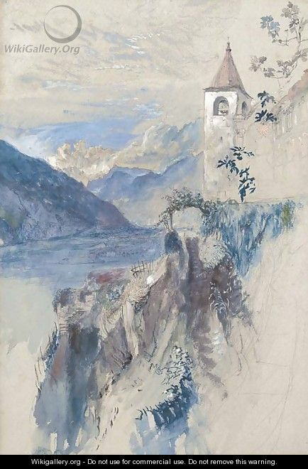 Bellinzona, Switzerland, looking north towards the St. Gotthard pass - John Ruskin
