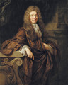 Portrait of a gentleman, three-quarter-length, in a brown cloak, in an interior - John Riley