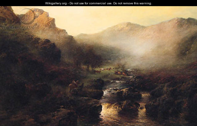 A Highland Landscape at Dawn - John Shapland
