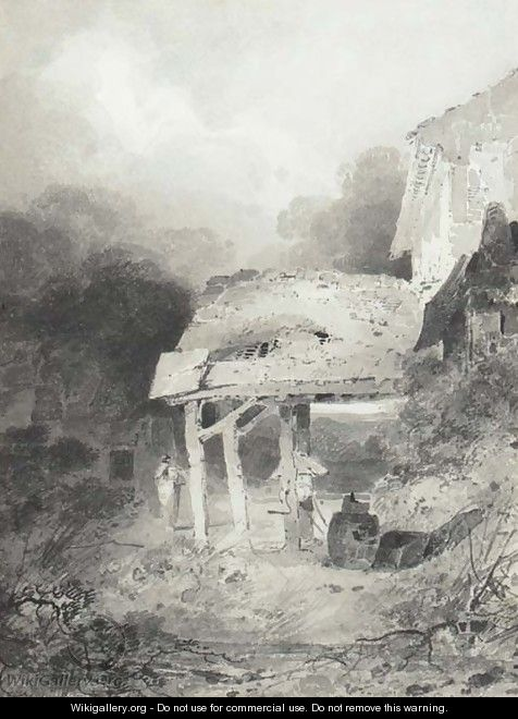 A study of farm buildings - John Sell Cotman