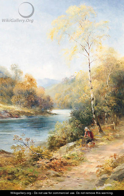 Resting By The River Spey - John MacWhirter