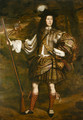 A Highland Chieftain Portrait of Lord Mungo Murray (1668-1700), full-length, in highland dress, holding a flintlock sporting gun in his right hand - John Michael Wright