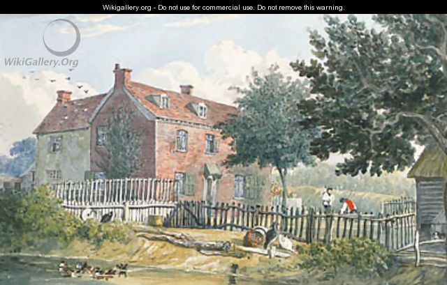 The Exterior of a Farmhouse at Holbrook, Ipswich, Suffolk - J. P. Neale