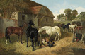 Horses and Chickens in a Farmyard 2 - John Frederick Herring, Jnr.