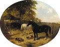 In the farmyard 2 - John Frederick Herring, Jnr.