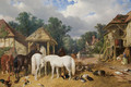 The Farmyard 2 - John Frederick Herring Snr