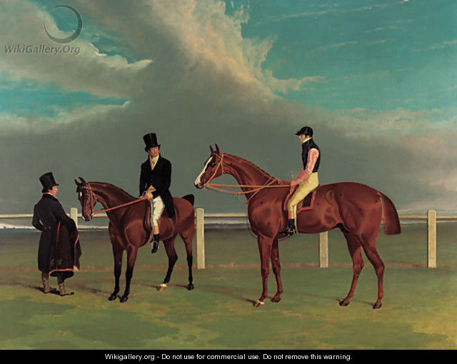 The Colonel, a chestnut racehorse, winner of the Great St. Leger Stakes, Doncaster, 1828, with William Scott up, the Hon. Edward Petre - John Frederick Herring Snr