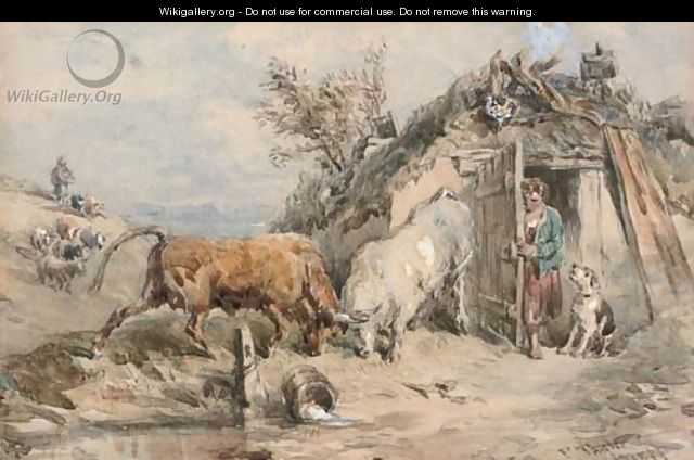 A rustic confrontation - John Frederick Tayler