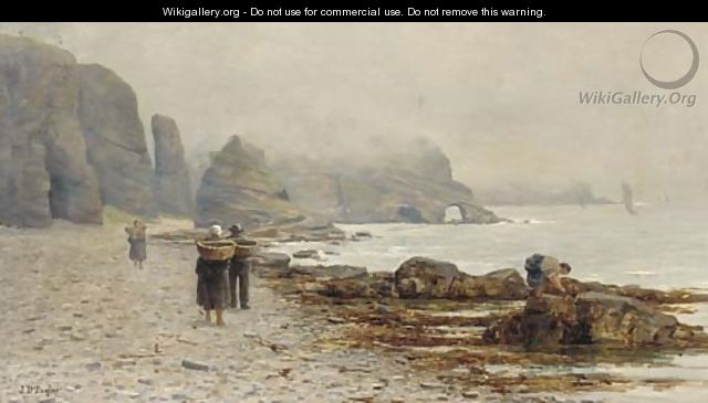 Mussel gathering at Auchmith, Fifeshire - John Taylor