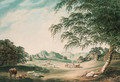 A view in the park at Hawkstone, the seat of Sir Richard Hill, Bt., Shropshire - John Emes