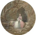 Portrait of a lady seated outside a grotto (illustrated) - John Edmund Buckley