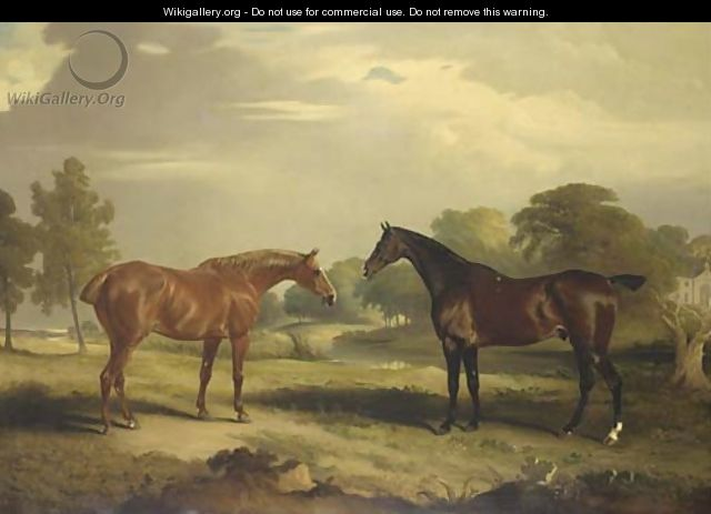 Two hunters at grass - John Ferneley, Snr.
