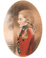 Portrait of an officer, half-length, facing left, in a scarlet uniform, possibly Prince Edward Augustus, Duke of Kent - John Downman
