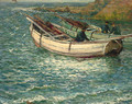 Fishing boats in a cove - John Falconar Slater