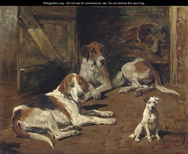 Fox Hounds and a Terrier - John Emms