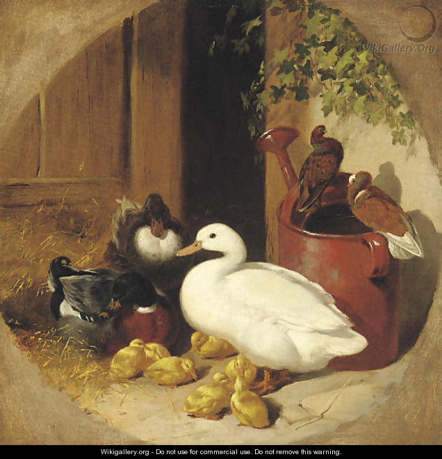 A quiet corner of the farmyard - John Frederick Herring Snr