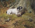 A terrier with a hare - John Fitz Marshall