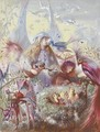 Fairies and a bird's nest - John Anster Fitzgerald