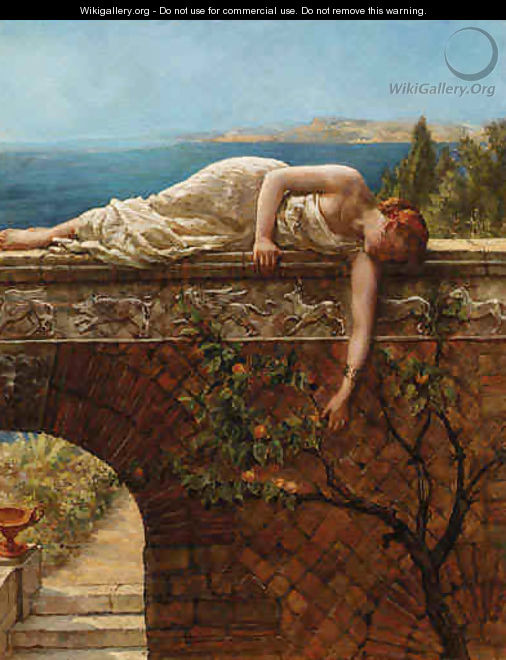 The Daughter of Eve - John Maler Collier - WikiGallery org
