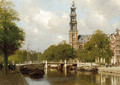 The Westertoren on the Prinsengracht, Amsterdam - Johannes Christiaan Karel Klinkenberg