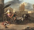 The Death of Servius Tullius with Tullia in her Chariot - Johannes Lingelbach