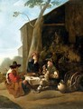 Peasants resting before an inn - Johannes Lingelbach