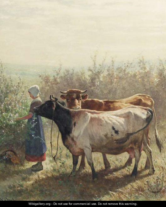 The little cowherd - Johannes-Hubertus-Leonardus de Haas