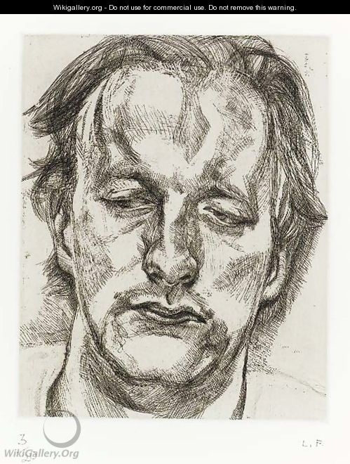 Head of a Man (Hartley 29) - Lucian Freud