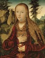 St. Barbara in a wooded landscape - Lucas The Elder Cranach