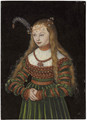 Portrait of Princess Sybille of Cleves, Wife of Johann Friedrich the Magnanimous of Saxony - Lucas The Elder Cranach