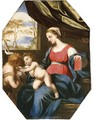 The Madonna and Child with Saint John the Baptist - Ludovico Trasi
