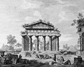 The temple of Juno at Paestum; and The Basilica at Paestum - Luigi Balugani