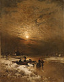 Winter by the river - Ludwig Lanckow