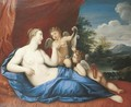 Reclining Venus with Cupids - Louis Urlass