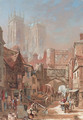 A view of St. Sampson's Square, York - Louise Rayner
