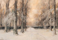 A winter landscape - Louis Apol