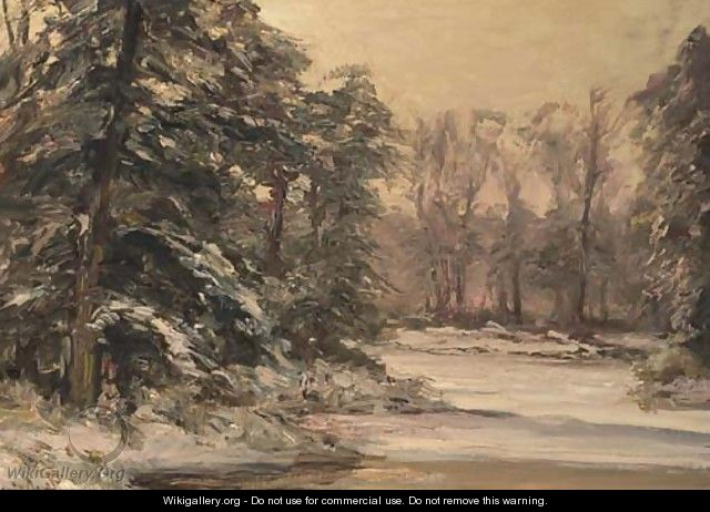 A winter forest - Louis Apol