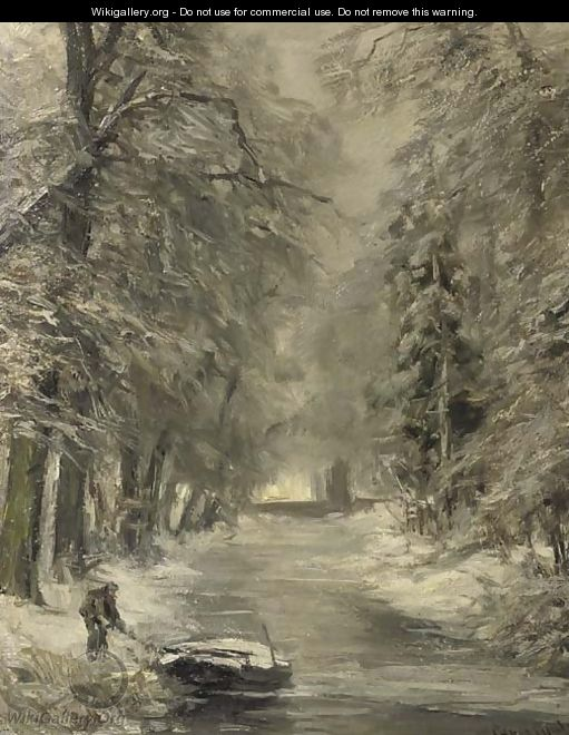 A snow covered forest - Louis Apol