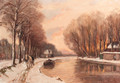 A ship-canal in winter - Louis Apol