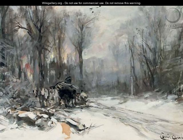 A malle jan in the snow - Louis Apol