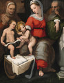 The Holy Family with Saint Anne and the Infant Saint John the Baptist - Lorenzo Sabatini